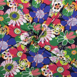 Jersey Viscose Print | Floral Green