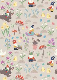 Jolly Spring Fabric | Jolly Egg Hunt Cream