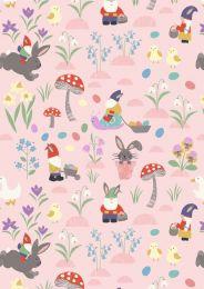 Jolly Spring Fabric | Jolly Egg Hunt Pink