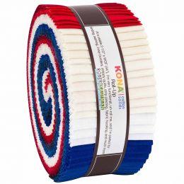 Kona Cotton Fabric Roll Up   Patriotic Palette