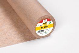 LE420 Low Melt Fusible Interfacing For Leather & Furs. Vilene - Vlieseline