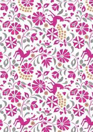 Lindos Fabric | Rhodian Deer Pink