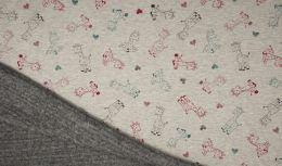 Luxury Sweatshirt Fabric | Melange Giraffe
