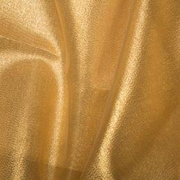 Metallic Organza Fabric | Gold