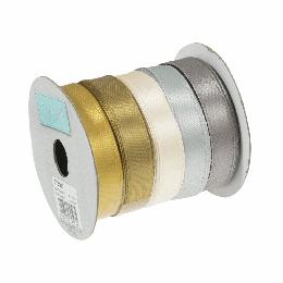 Metallic Satin Ribbon Bundle, 10mm - 5 Colour Pack