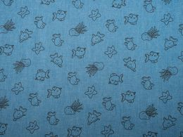 Printed Denim Happy Sea Life