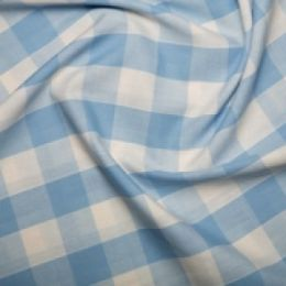 Inch Gingham Check | Pale Blue