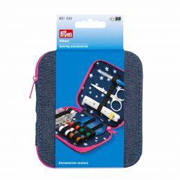 Premium Sewing Kit, Denim Blue & Pink | Prym