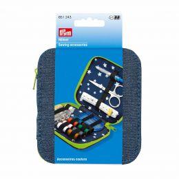 Premium Sewing Kit, Denim Blue & Green | Prym