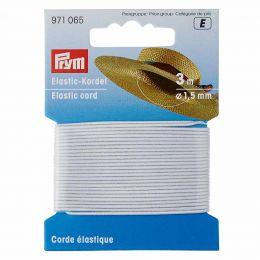 Elastic-Cord, 1.5mm x 3m - White   Prym