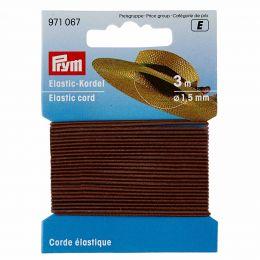 Elastic-Cord, 1.5mm x 3m - Brown | Prym