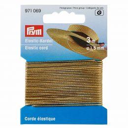 Elastic-Cord, 1.5mm x 3m - Gold Metallic | Prym