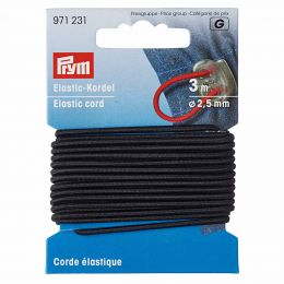 Elastic-Cord Strong, 2.5mm x 3m - Black | Prym