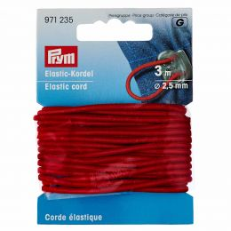 Elastic-Cord Strong, 2.5mm x 3m - Red | Prym