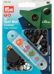 13mm Black Oxidised | Outdoor Mini Press Fastener & Tool | Prym
