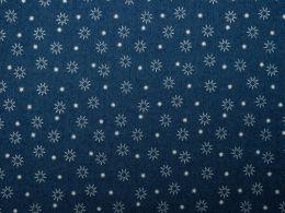 Printed Denim   Starburst Mid Blue