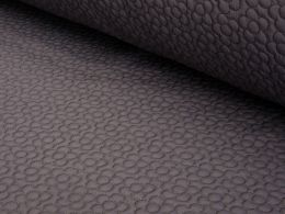 Quilted Fleece Fabric | Flower Taupe