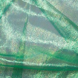 Rainbow Organza Fabric | Emerald
