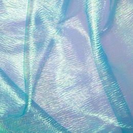 Rainbow Organza Fabric | Turquoise