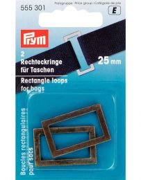 Rectangle Loop For Bags 25mm | Antique Brass | Prym
