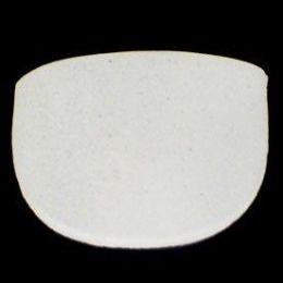 Shoulder Pads Set In White | Medium