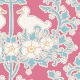 Plum Garden Tilda Fabric | Duck Nest Peach