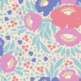 Plum Garden Tilda Fabric | Autumn Bouquet Teal