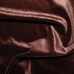 Velour Velvet Fabric | Brown