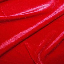 Velour Velvet Fabric | Red