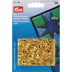 Safety Pins Curved Gold 27mm, 120pcs | Prym