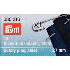 Safety Pins Silver 27mm, 12pcs | Prym