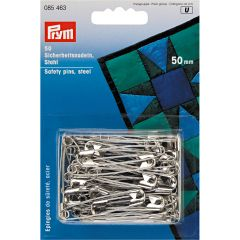 Safety Pins Silver 50mm, 50pcs | Prym