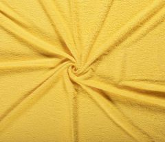 Terry Towelling Fabric | Hard Yellow