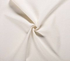 Cotton Waffle Fabric | Off White