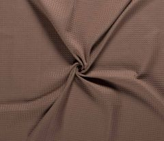 Cotton Waffle Fabric | Brown