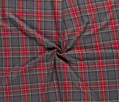 Premium Scottish Check Fabric | Wide Width Green Grey