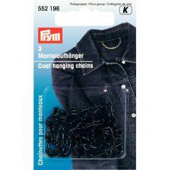 Coat Hanging Loop, Chain Black   Prym
