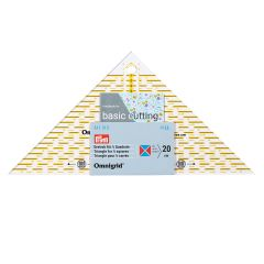 Omnigrid Quick Triangle   cm Scale   For 1/4 squares, up to 20 cm