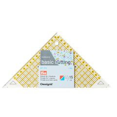 Omnigrid Quick Triangle | cm Scale | For 1/2 squares, up to 15 cm