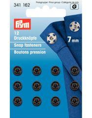 7mm Black Metal, Snap Fasteners | Prym