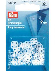 Snap Fastener Plastic, Square White | Prym