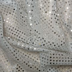 Sequin Fabric 3mm | Silver