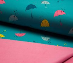 Soft Shell Fleece Fabric | Umbrella Mint