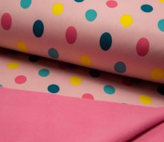 Soft Shell Fleece Fabric | Dot Rose