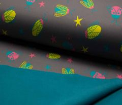 Soft Shell Fleece Fabric | Bugs Grey