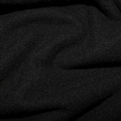Micro Fleece Plain Fabric | Black