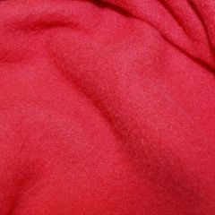 Micro Fleece Plain Fabric | Red
