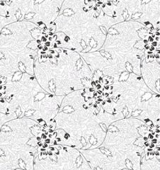 Extra Wide White On White Fabric | Floral 2