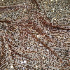 Knitted Sequin Fabric Stripes | Nude