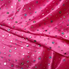 Satin Fabric Sequins | Cerise
